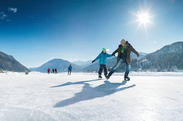 Weissensee Eislaufen