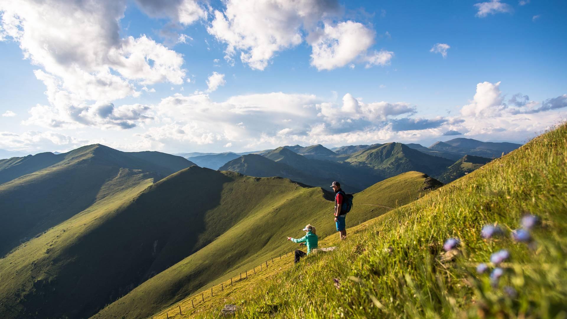 <p>Trails Angels Nockberge Trail, Falkert Richtung Malnock</p>